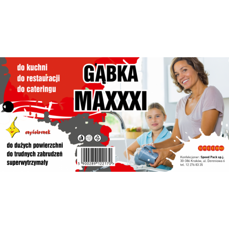CZYŚCIOSZEK GĄBKA MAXXXI A'1 op.zb.(36)